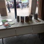 Le coin lecture du stand au Mang'Azur